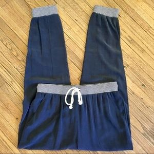 NWT Band Of Outsiders | Navy Silk Joggers Sz8